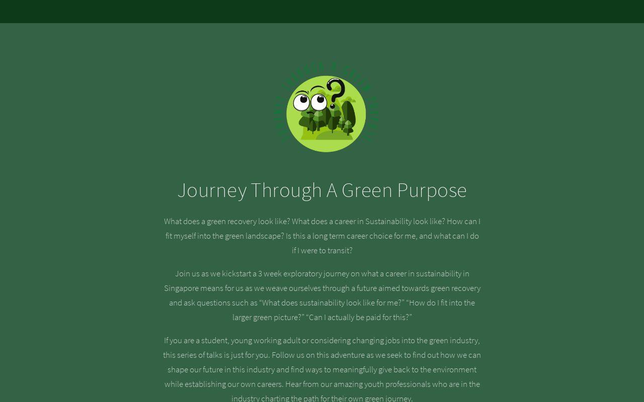 Journey Through A Green Purpose